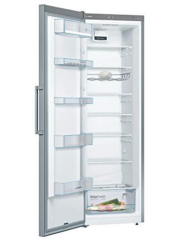 Bosch KSV36VL4P Serie 4 Freistehender Kühlschrank / A+++ / 186 cm / 75 kWh/Jahr / Inox-look / 346 L / VitaFresh / EasyAccess Shelf