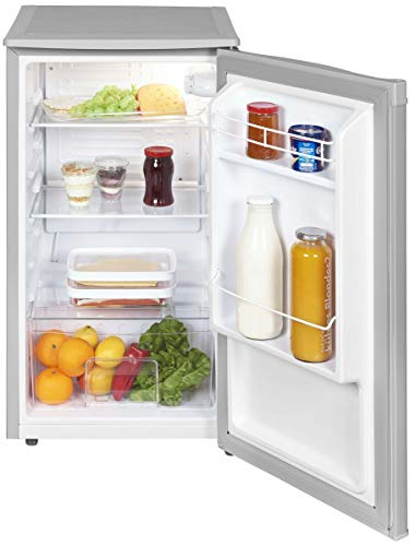 Exquisit Kühlschrank KS 85-9 RVA+ Grau/Kühlen 82 Liter/Breite 45 cm/Türanschlag wechselbar/Grau